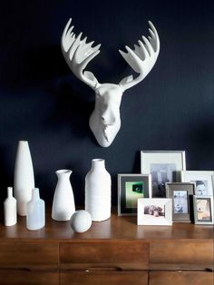 Dresser Display- i might replace the deerhead with a moosehead (it holds special meaning to me) or something else...