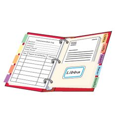 Keeping track of parent communication just got easier! Prepare a communication form similar to the one shown. For each student, program a copy of the form and label a tabbed divider with pockets. Secure the materials in a binder so that each student's form faces the corresponding divider. Store written correspondence in the pocket and jot down notes from phone calls and meetings on the form. Ha, to be this organized!