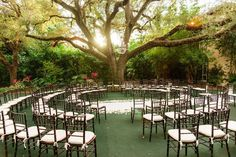 Circular Seating  Coconut Grove Wedding from Sugar(ed) Event Design and Planning  Read more - http://www.stylemepretty.com/florida-weddings/miami-fl/2013/03/22/coconut-grove-wedding-from-sugared-event-design-and-planning/