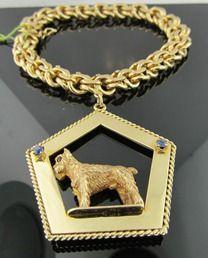 Ferro Jewelers - Estate Jewelry | 14k Tiffany & Co. Scottie Dog Sapphire and Ruby Bracelet