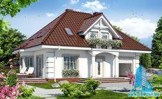 Dom w rododendronach 11 (P) Village House Design, Village Houses, Modern Architecture House, Modern House Design, Exterior Doors, Interior And Exterior, Bungalow Renovation, Design Case, Model Homes