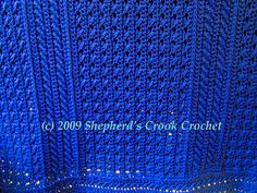 an afghan with texture!! - free crochet pattern