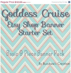 SALE Etsy Shop Banner Pack Basic 9 Piece Etsy by BusybeesCreation, $9.71
