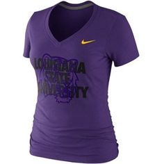 Nike LSU Tigers Ladies Symbol Tri-Blend V-Neck T-Shirt - Purple