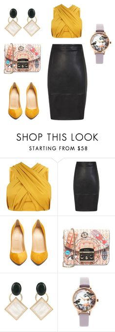 """Someone got a job @artgallery"" by laura-paasivirta ❤ liked on Polyvore featuring Christian Louboutin, Furla, Marni, Olivia Burton, gemini and powercolor"