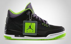 premium selection e4476 4f983 New version - Air Jordan III Black Electric Green