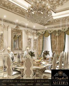 #diningroom Mansion Interior, Luxury Homes Interior, Luxury Home Decor, Home Interior Design, Luxury Dining Room, Luxury Rooms, Dining Room Design, Luxury Living, Classic Interior