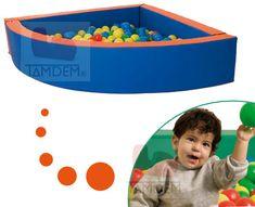 Pisicina de bolas angular de esquina para salas de Integración Sensorial y Terapia Ocupacional. Occupational Therapy, Balls, Games