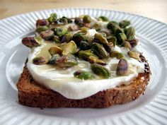 Whole Grain Toast | 11 Of The Best Things To Eat Before A Workout  Whole grains — like quinoa and brown rice — are packed with fiber, providing slow-release, sustained energy throughout the duration of a workout.  Topping it off with some jam will provide you with fast-acting simple carbohydrates. Or, you can follow the recipe pictured and add greek yogurt, pistachios, and honey.