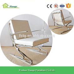Comtemporary Furniture Office Area Polished Metal Frame Meinhard von Gerkan Berlin Arm Chair