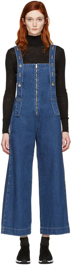 93d6d3853371 SJYP Indigo Denim Strap Overalls.  sjyp  cloth  overalls Fashion 2017