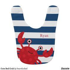 Cute Red Crab Bib