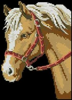Horse cross stitch. Cross Stitch Horse, Cross Stitch Animals, Counted Cross Stitch Patterns, Cross Stitch Embroidery, Bargello Needlepoint, Horse Quilt, Horse Pattern, Horse Drawings, Horse Love
