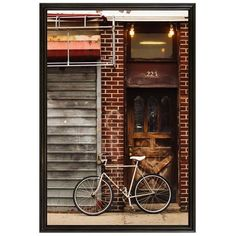 Pottery Barn Brooklyn Bike Cindy Taylor 42x28 Ridged Distressed Black... (1.210 DKK) ❤ liked on Polyvore featuring home, home decor, wall art, pottery barn wall art, bicycle home decor, bike home decor, bicycle wall art and bike wall art
