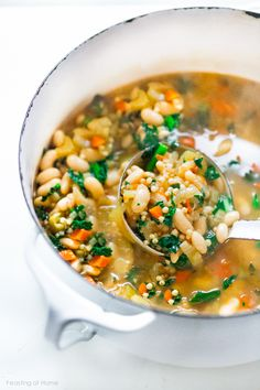 Tuscan Cannellini Bean Stew w/ Sorghum