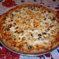 Spelt Pizza Dough Allrecipes.com - i used olive oil instead of butter/coconut oil - excellent recipe & very tasty!