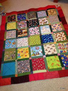 I spy quilt for the Kindergarten where my grandchildren are going