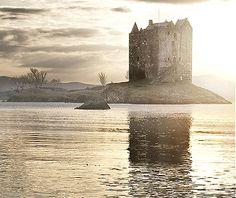 Castle Stalker on Loch Laiche ... Appin, Argyll, Scotland. Photo by Jimmy McIntyre via Flickr
