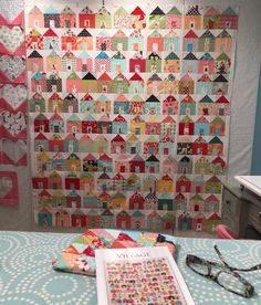 Almost finished with my Village quilt top – just need to add the borders yet! #SewingAVillage #VillageQuilt #CharmPackMashUp…