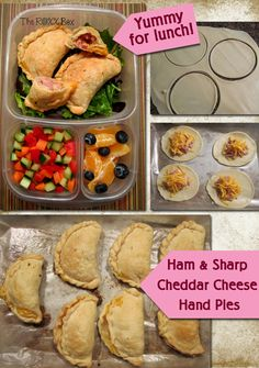 These hand pies are SUPER EASY to make. From Nickles Nickles Valk Chuah ROXX Box though i think i will sub turkey instead Lunch Box Bento, Easy Lunch Boxes, Lunch Snacks, Lunch Recipes, Lunch Ideas, Cooking Recipes, Box Lunches, Bento Ideas, Meal Ideas
