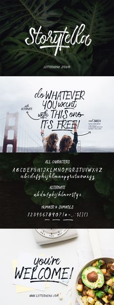 Storytella Free Font | Pixelo