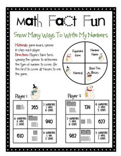 Check out these winter game board freebies. There are fun ways to write and compare numbers.