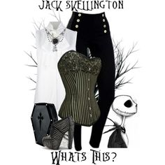 """Jack Skellington - Disney's Nightmare Before Christmas"" by rubytyra ❤ liked on… Character Inspired Outfits, Disney Inspired Outfits, Themed Outfits, Disney Outfits, Disney Style, Cute Outfits, Disney Fashion, Unique Outfits, Grunge Goth"