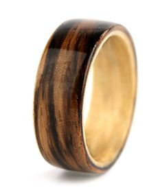 Sahara Zebrawood Ring by Simply Wood Rings