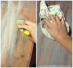 efecto madera lavada Decoupage Furniture, Chalk Paint Furniture, Recycled Furniture, Art Furniture, Furniture Makeover, Vintage Diy, Wood Art, Wood Crafts, Diy Home Decor