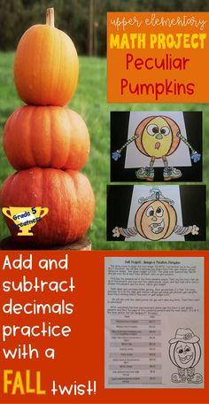 Math Stations, Math Centers, Teaching Decimals, 7th Grade Math, Fourth Grade, Sixth Grade, Halloween Math, Math Projects, Elementary Math
