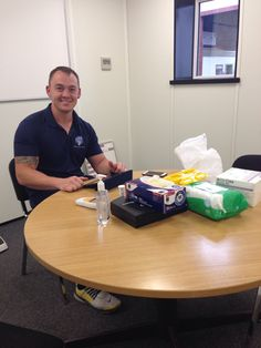 Wellbeing Coach Andy came into Whitley yesterday to give employees diabetes checks. #wellbeing #diabetesweek #diabetes