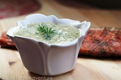 Scandinavian Mustard and Dill Sauce.  Great with salmon!