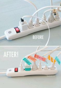 Having electrical cords labeled helps prevent students from unplugging the wrong cord.