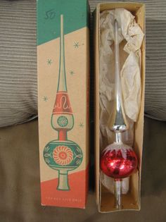 Vintage Christmas glass tree topper - We had this topper!