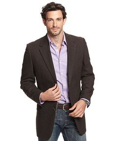 This is a Club Room blazer that is made out of Wool Silk Cashmere. The brand of this blazer is Herringbone Blazer found in the Blazers & Sport Coats at Macy's. Mens Sport Coat, Sport Coats, Smart Casual Wardrobe, Lavender Shirt, Herringbone Blazer, Brown Suits, Casual Wear For Men, Blazer Fashion, Men's Fashion