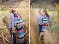 her hand on her belly would look good here too. dad should be smiling at least a little bit, so their expressions match. 5 Tips for Flattering Maternity Photography. - Digital Photography School
