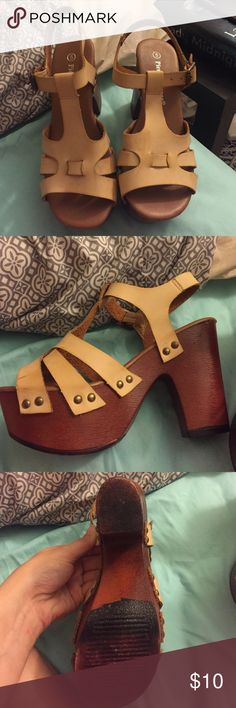 Reflection brand wedges Tan wedges size 5 but fit super well for a 5 1 ...: pinterest.com/pin/418342252866116805
