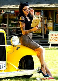 hot rods and girls | See Also: Girls in Garages and Nose Art and Pin-Up Girls