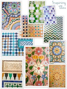 Beautiful geometric Moroccan tiles i need some of these for the stairs in my kitchen:) Moroccan Art, Moroccan Design, Moroccan Tiles, Moroccan Bathroom, Moroccan Interiors, Tile Patterns, Print Patterns, Tadelakt, Moroccan Pattern