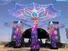 Outdoor festival decor