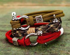 Paracord bracelet Rope bracelet Parachute bracelet 550 от GATURA Paracord Bracelets, Bracelets For Men, Cuff Bracelets, Survival Bracelets, Handmade Bracelets, Hobbies To Pick Up, Hobbies For Men, Paracord Tutorial, 550 Paracord