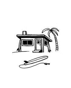 Surf Shack for @riparide  T-Shirts Prints & Fun Stuff  www.jonasdraws.com by jonas_draws
