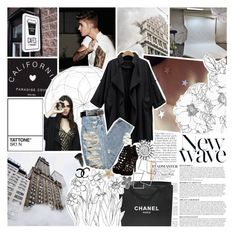 """""""You think you broke my heart for goodness sake, you think I'm crying on my own well I ain't"""" by blueivym ❤ liked on Polyvore featuring Anja, PacSun, Chanel and Eyeko"""