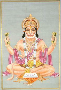 Lord Hanuman Sings the Glories of His Beloved Lord Rama Hanuman Pics, Hanuman Chalisa, Hanuman Images, Hanuman Murti, Arte Krishna, Hanuman Ji Wallpapers, Navratri Puja, Tantra Art, Lord Rama Images