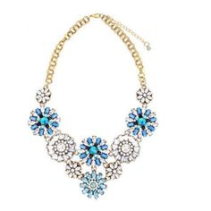 Yoins Blue Crystal Flowers Pendant Necklace ($14) ❤ liked on Polyvore featuring jewelry, necklaces, blue, yoins, blue flower necklace, flower necklace, flower necklace pendant, crystal jewelry and crystal necklace