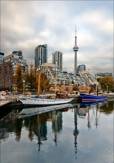 Waterfront, Toronto, Canada, Love the CN Tower, been there many times. Places Around The World, The Places Youll Go, Places To Visit, Around The Worlds, Toronto Travel, Toronto City, Toronto Ontario Canada, Nostalgia, Toronto Canada