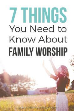 Family Worship ideas for raising godly kids. Practical ways to teach kids the Bible. Teaching Scripture to your kids will increase their faith and help them to grow as Christians.
