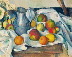 Paul Cézanne, Bouilloire et fruits Courtesy of Christie's. Paul Cézanne, Cezanne Still Life, Paul Cezanne Paintings, Cezanne Art, Jeff Koons, Henri Matisse, French Artists, Art World, Monet
