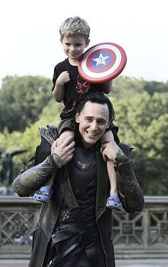 """Story of a Five Year Old Avenger, Meeting The Avengers """"Chris Hemsworth is walking away, so my son shouts out, """"Thor!"""" Thor turns around, smiles and waves, then continues on his way. But there is Loki, the God of Mischief. He sees my son, and smiles. - I love Tom Hiddleston even more now that I read this"""