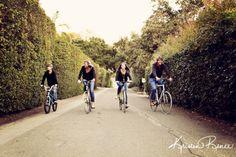 family riding bikes together, family photos, santa barbara family photos